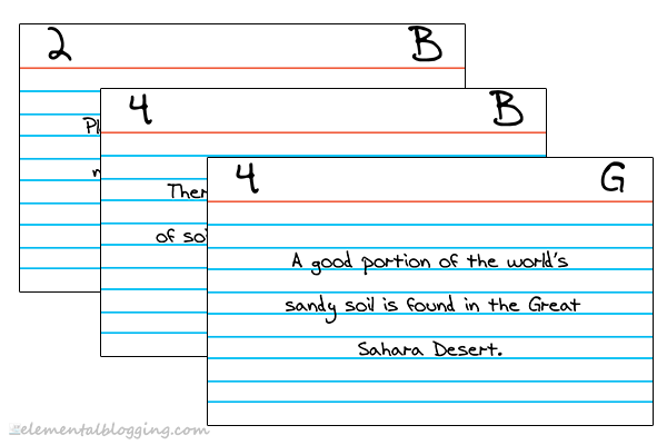 The Index Card System from Elemental Blogging
