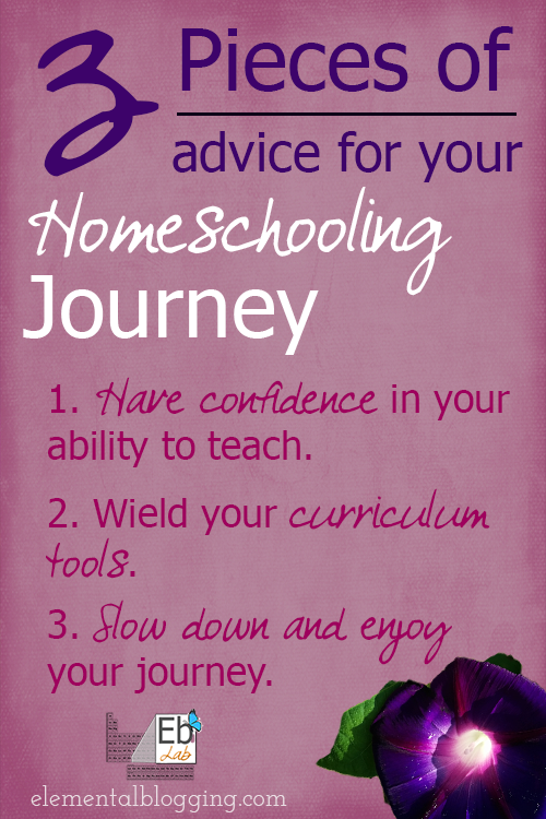 3 Pieces of homeschooling advice from Paige at Elemental blogging