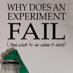Why does an experiment fail? (And what to do when it does)