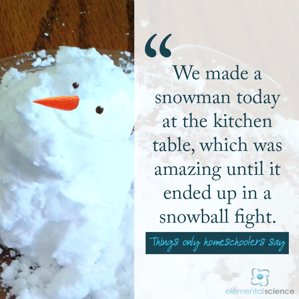 When is the last time you made an indoor snowman?