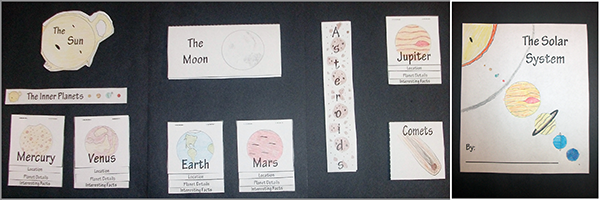 science lapbook, solar system, elemental science