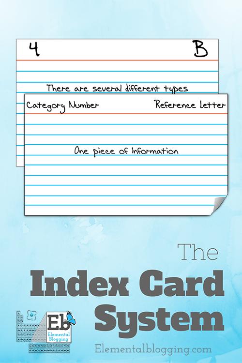The Index Card System | Elemental Blogging