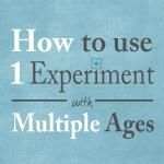 How to scale one experiment for multiple ages
