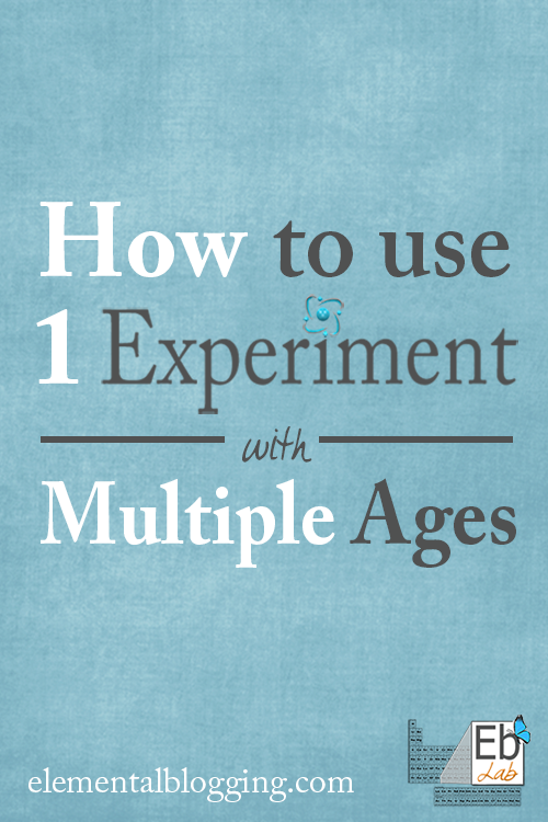 How to use one experiment with multiple ages from Elemental Blogging.