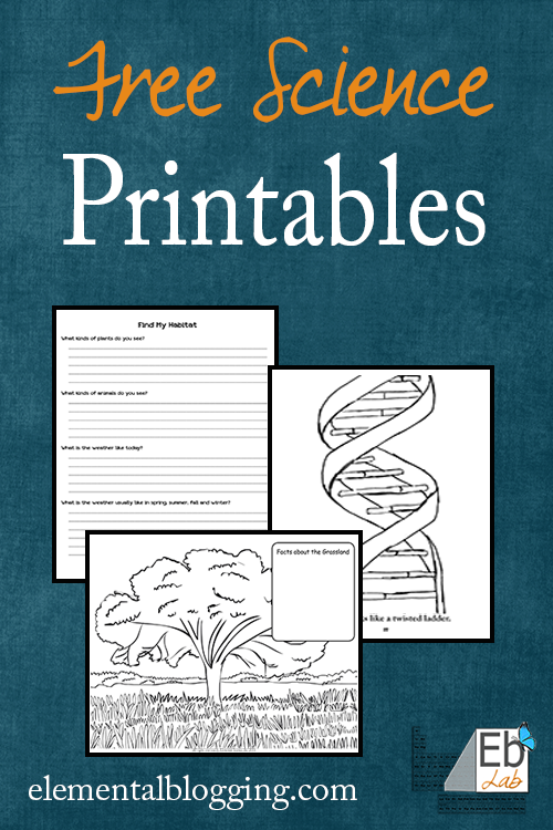 Science Printables and Freebies | Elemental Blogging