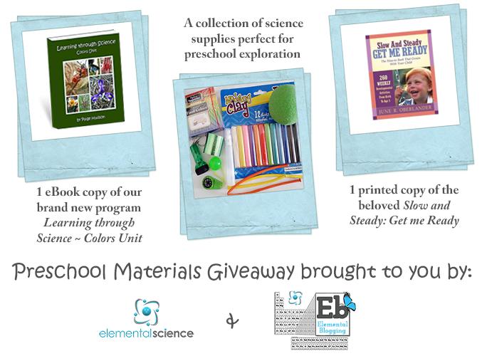 Preschool Materials Giveaway!! | Elemental Blogging